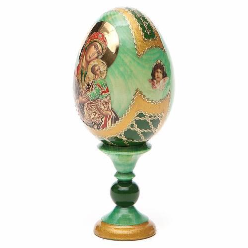 Uovo icona russa découpage Passionale h tot. 13 cm stile Fabergé s2
