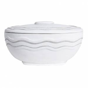Urna cineraria tonda marmo sintetico bianca fili Swarovski s5