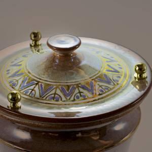 Urne funéraire céramique avec décorations s2
