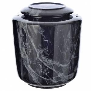 Urne funéraire porcelaine mod. Noir Marquina s1