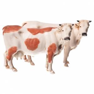 Belén Moranduzzo: Vacas surtidas, 2 pdz, para belén de Moranduzzo con estatuas de 10 cm.