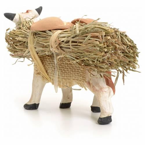 Vache au fagot pour crèche Napolitaine 8 cm s3