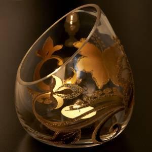 Vaso porta vela de Navidad en vidrio con tealight s4