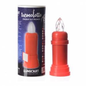 Vela eléctrica roja parpadeante con adhesivo s2