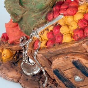 Vendedora de manzanas con carrito 10 cm s3