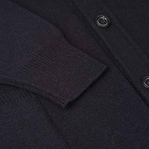 Veste en laine avec boutons,noir s4