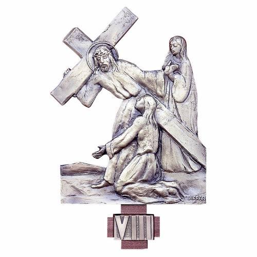 Via Crucis 14 stazioni ottone fuso 20x25 cm s1