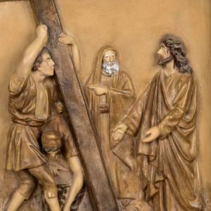 Vía Crucis: Vía Crucis 15 estaciones 33x23 cm pasta de madera