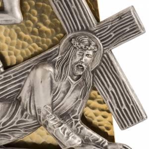 Vía Crucis: Vía Crucis 15 estaciones bronce martillado dorado