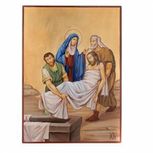 Via Crucis 15 Stazioni icone dipinte a mano 44x32 cm Romania s14