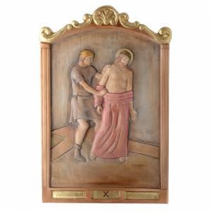 Via Crucis 15 Stazioni in rilievo legno colorato s10