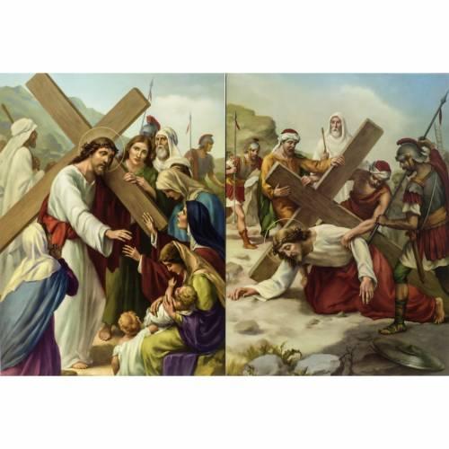 Via Crucis 15 stazioni stampa legno s6