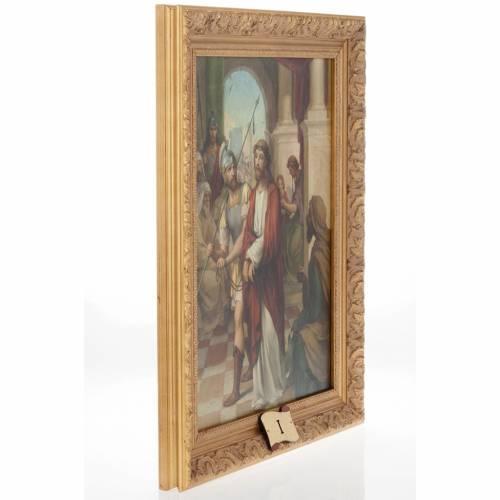 Via Crucis cuadros madera similar pintura 15 estaciones s6
