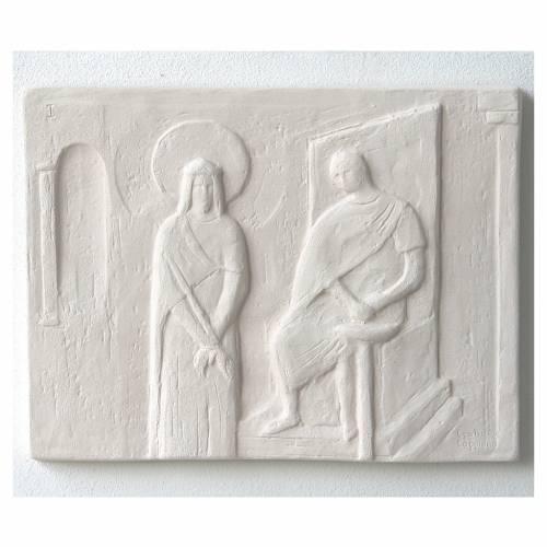 Vía Crucis cuadros regulares 34x25 cm arcilla Centro Ave 15 estaciones s4