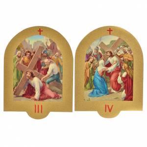 Vía Crucis estampa sobre madera 19x14 cm 15 estaciones s3