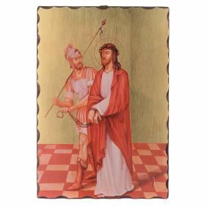 Via Crucis quadretti serigrafati 30x20 cm legno s1