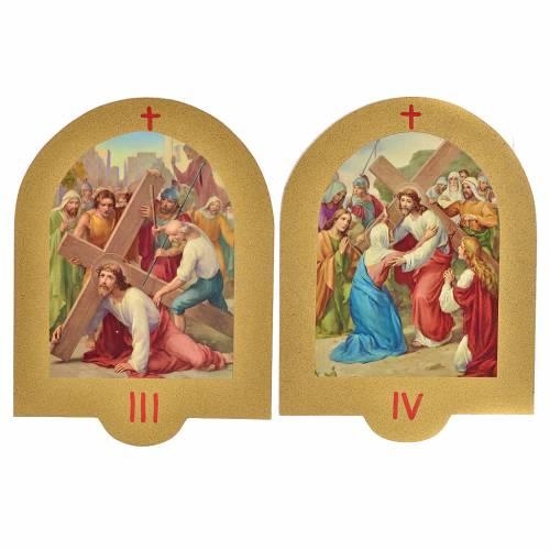 Via Crucis stampa su legno 19x14 cm 15 stazioni s3