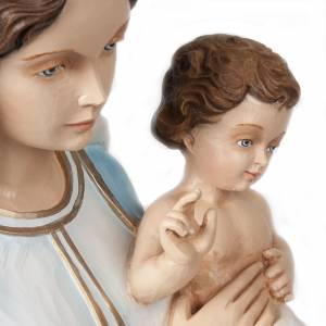 Vierge avec enfant bénissant statue fibre de verre 85 cm s4
