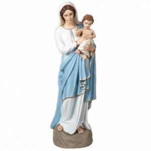 Vierge avec enfant bénissant statue fibre de verre 85 cm s1