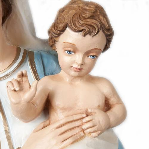 Vierge avec enfant bénissant statue fibre de verre 85 cm s3