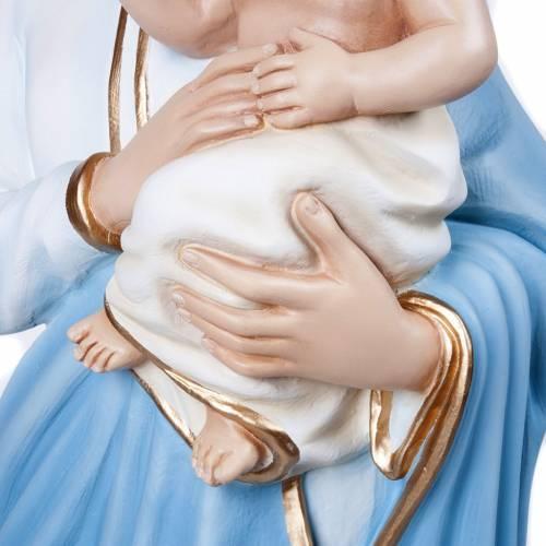 Vierge avec enfant fibre de verre 100 cm s8