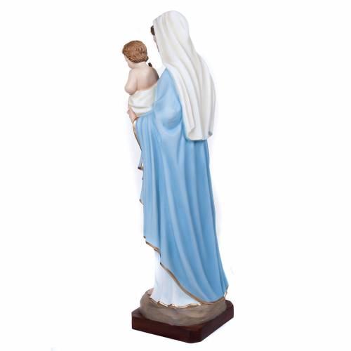 Vierge avec enfant fibre de verre 100 cm s9
