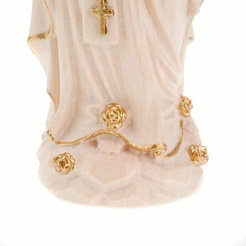 Vierge de Lourdes bois naturel 20cm s4