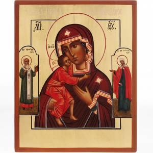 Icônes Russes peintes: Vierge de Vladimir