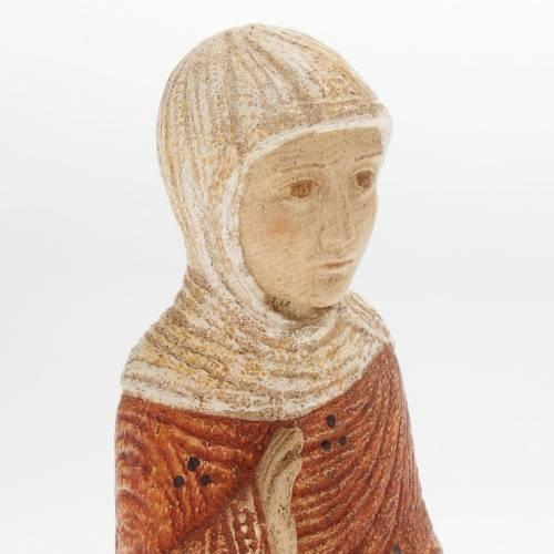 Vierge Marie Crèche d'Autun bois peint s2