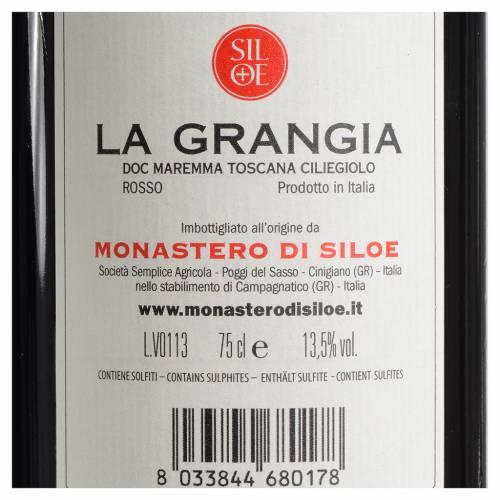 Vin 'La Grangia' DOC Maremme Toscane Ciliegiolo rouge Siloe s2