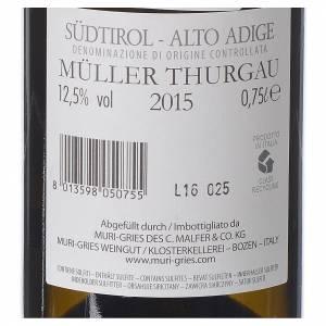 Les vins rouges et blancs: Vin Muller Thurgau DOC 2015 Abbaye Muri Gries 750ml