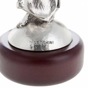 Virgen con el Niño color metal 17cm s4