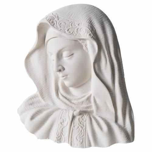 Virgen de 16cm mármol sintético s1