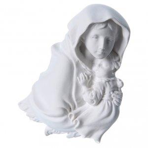 Virgen de la Ferruzi 15cm en relieve en mármol s2