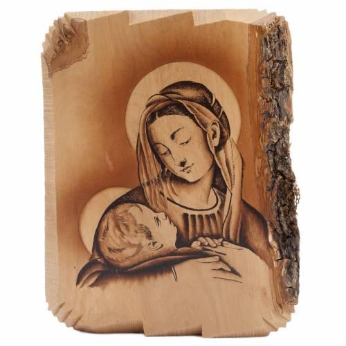 Virgen de la mirada tierna de madera de olivo s2