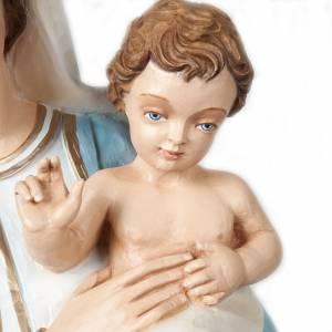 Virgen y el Niño Bendecido 85 cm en fibra de vidrio s3