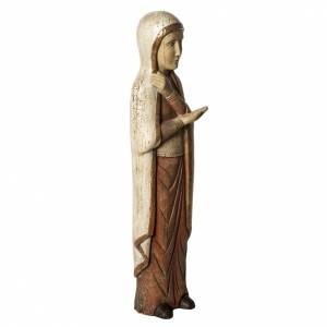 Virgin Mary of Batloo in old finishing wood 78cm, Bethlehem Nuns s2