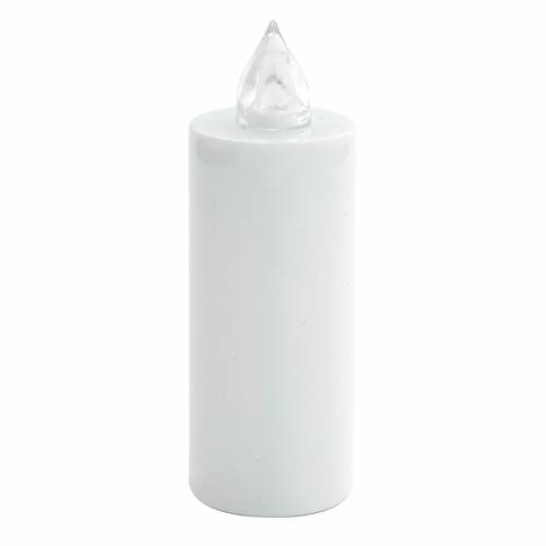 Votive candle, white, Lumada, flickering red light s1