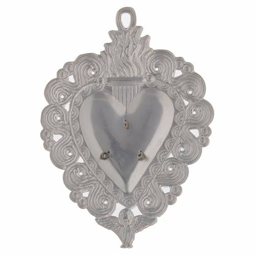 Votive heart, Hail Mary 9.5x7.5cm s2