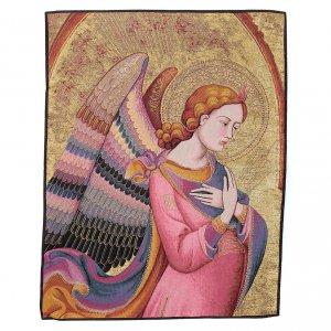 Wandteppiche: Wandteppich Engel von Lorenzo Monaco 90x65cm
