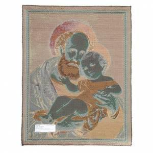Wandteppiche: Wandteppich Heiligen Josef mit Kind 65x50cm