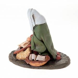 Krippe aus Terrakotta: Wäscherin Statuette aus Terrakotta 18 cm