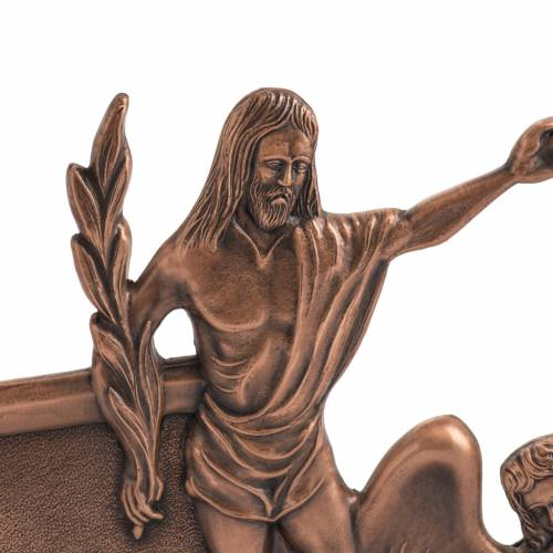 Way of the cross in copper plated bronze, 15 stations s2