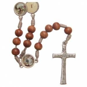 Rosaries and rosary holders: Way of the Cross Medjugorje rosary in olive wood