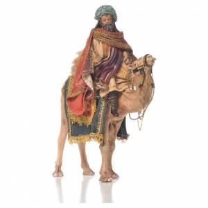 Krippenfiguren von Angela Tripi: Weißer König auf Trompeltier 13cm Angela Tripi