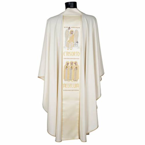 White chasuble with the angel of the resurrection s6