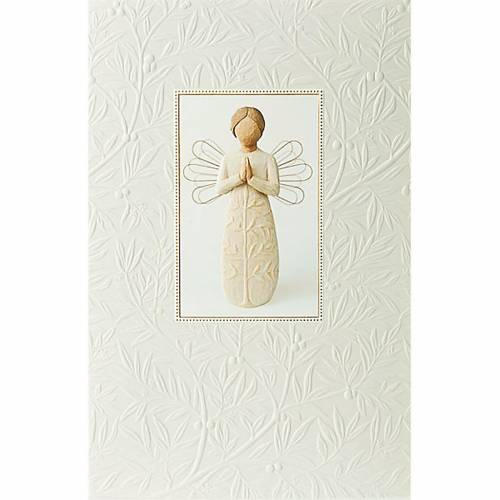 Willow Tree Card - A tree, a prayer (angelo in preghiera) 21x14 s1