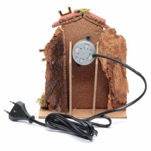 Wind mill for nativities with gear motor 15x10cm s4