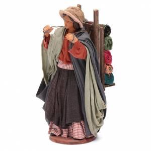 Woman carrying fabrics, figurine for Neapolitan Nativity, 14cm s2