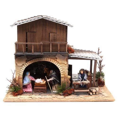 Wood chopper, animated nativity figurine, 12cm s1